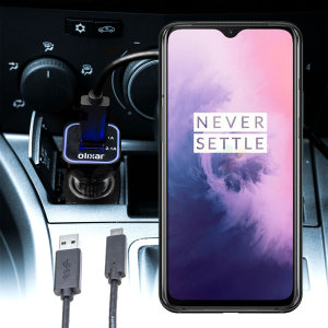 Keep your OnePlus 7 fully charged on the road with this compatible Olixar high power dual USB 3.1A Car Charger with an included high quality  1m USB to USB-C charging cable.