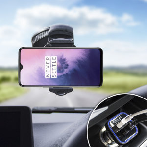 Essential items you need for your smartphone during a car journey all within the Olixar DriveTime In-Car Pack. Featuring a robust one-handed phone car mount and car charger with an additional USB port for your OnePlus 7.
