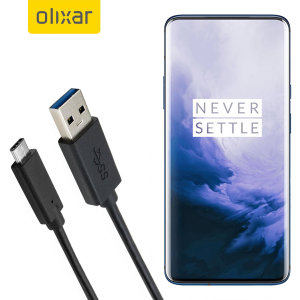 Olixar USB-C OnePlus 7 Pro Charging Cable - Black 1m