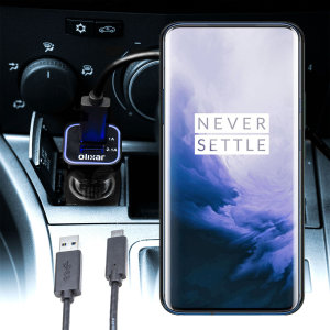 Keep your OnePlus 7 Pro fully charged on the road with this compatible Olixar high power dual USB 3.1A Car Charger with an included high quality  1m USB to USB-C charging cable.