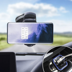 Essential items you need for your smartphone during a car journey all within the Olixar DriveTime In-Car Pack. Featuring a robust one-handed phone car mount and car charger with an additional USB port for your OnePlus 7 Pro.