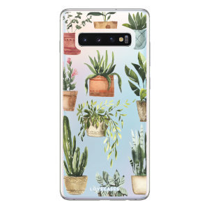 LoveCases Samsung S10 Plus Plant Phone Case - Clear Multi