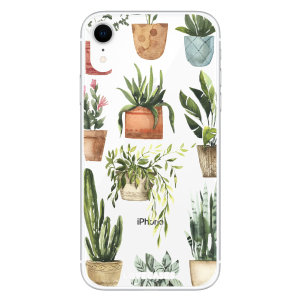 LoveCases iPhone XR Plant Phone Case - Clear Multi