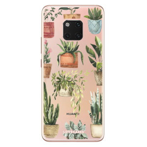 LoveCases Huawei Mate 20 Pro Plants Phone Case - Clear Green