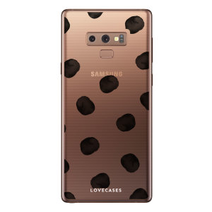 LoveCases Samsung Note 9 Polka Phone Case - Clear Multi