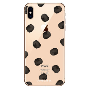 LoveCases iPhone XS Max Polka Phone Case - Clear Black