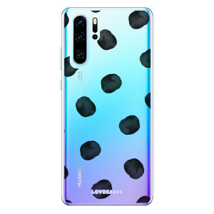 LoveCases Huawei P30 Pro Polka Phone Case - Clear Black
