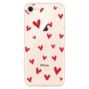 Take your iPhone 8 to the next level with this hearts design phone case from LoveCases. Cute but protective, the ultrathin case provides slim fitting and durable protection against life's little accidents.