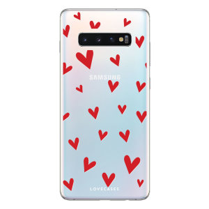 Take your Samsung Galaxy S10 to the next level with this hearts design phone case from LoveCases. Cute but protective, the ultrathin case provides slim fitting and durable protection against life's little accidents.