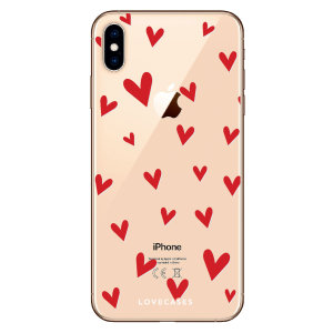 Take your iPhone X to the next level with this hearts design phone case from LoveCases. Cute but protective, the ultrathin case provides slim fitting and durable protection against life's little accidents.