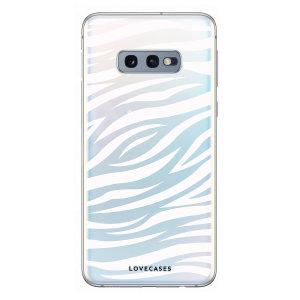 LoveCases Samsung S10e Zebra Phone Case - Clear White