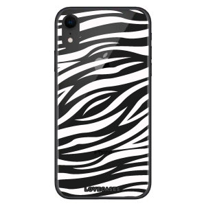 LoveCases iPhone XR Zebra Phone Case - Clear White