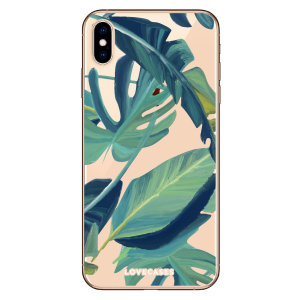 LoveCases iPhone XS Max Tropical Phone Case - Clear Green