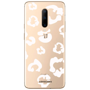 Coque OnePlus 7 Pro LoveCases Léopard – Blanc / transparent