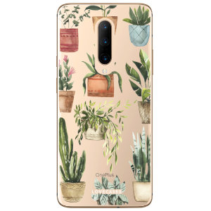 LoveCases OnePlus 7 Pro Plant Phone Case - Clear Multi