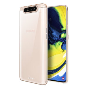 Custom moulded for the Samsung Galaxy A80, this clear FlexiShield case by Olixar provides slim fitting and durable protection against damage.
