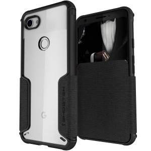 The Exec3 premium wallet case in black provides your  Google Pixel 3a with fantastic protection. Also featuring storage slots for your credit cards, ID and cash.
