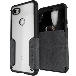 The Exec3 premium wallet case in grey provides your  Google Pixel 3a with fantastic protection. Also featuring storage slots for your credit cards, ID and cash.