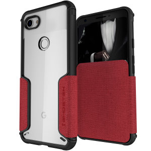 The Exec3 premium wallet case in red provides your  Google Pixel 3a with fantastic protection. Also featuring storage slots for your credit cards, ID and cash.