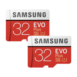 Great for recording 4K UHD video, this Grade U3 32GB Twin Pack Micro SDXC memory card from Samsung features impressive read / write speeds for retaining detail in photos, videos and more. Securely and safely store files, media and anything else you need.