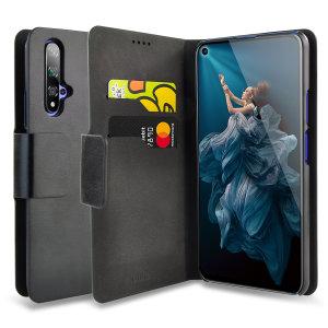 Protégez votre Huawei Honor 20 à l'aide de cette superbe housse Olixar portefeuille en simili cuir noir. Robuste et élégante, c'est une judicieuse protection pour préserver au quotidien votre smartphone. Polyvalente, elle peut se transformer en un instant en support de visionnage, vous pourrez ainsi regarder confortablement vos films et autres contenus.