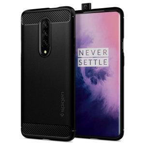 Meet the newly designed rugged armor case for the OnePlus 7 Pro. Made from flexible, rugged TPU and featuring a mechanical design, including a carbon fibre texture, the rugged armor tough case in black keeps your phone safe and slim.
