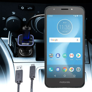 Keep your Motorola Moto E5 Cruise fully charged on the road with this compatible Olixar high power dual USB 3.1A Car Charger with an included high quality USB to Micro-USB charging cable.