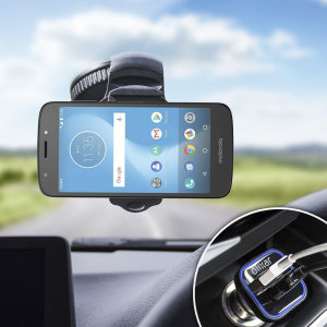 Essential items you need for your smartphone during a car journey all within the Olixar DriveTime In-Car Pack. Featuring a robust one-handed phone car mount and car charger with an additional USB port for your Motorola Moto E5 Cruise.