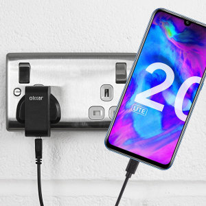 Charge your Honor 20 Lite quickly and conveniently with this compatible 2.5A high power charging kit. Featuring mains adapter and USB cable.
