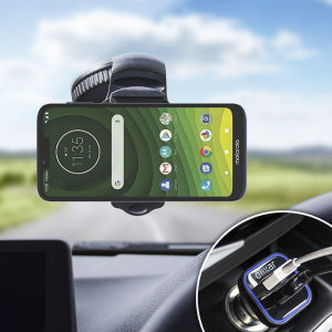 Essential items you need for your smartphone during a car journey all within the Olixar DriveTime In-Car Pack. Featuring a robust one-handed phone car mount and car charger with an additional USB port for your Motorola Moto G7 Supra.