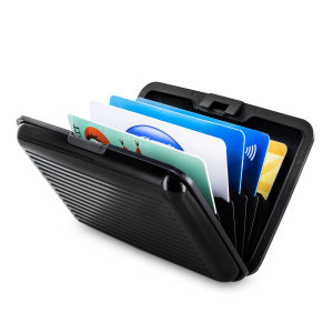 Olixar Hard Shell RFID Accordion Card Wallet for 10 Cards - Black