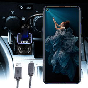 Keep your Honor 20 fully charged on the road with this compatible Olixar high power dual USB 3.1A Car Charger with an included high quality  1m USB to USB-C charging cable.