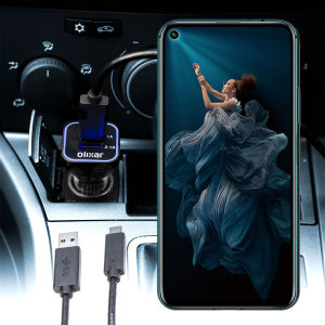 Keep your Honor 20 Pro fully charged on the road with this compatible Olixar high power dual USB 3.1A Car Charger with an included high quality  1m USB to USB-C charging cable.