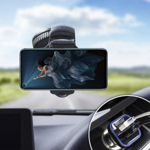 Essential items you need for your smartphone during a car journey all within the Olixar DriveTime In-Car Pack. Featuring a robust one-handed phone car mount and car charger with an additional USB port for your Honor 20 Pro.