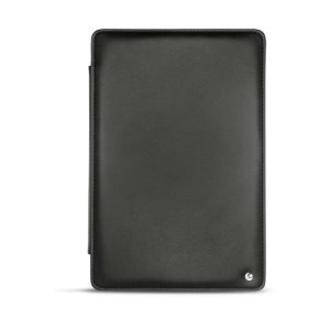 Protect your Samsung Galaxy Tab S5e with this fantastic black genuine leather-style stand case from Noreve. The frame folds out to become a media viewing stand, perfect for streaming videos or gaming.