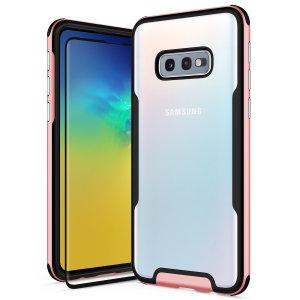 Voici la nouvelle coque Zizo Fuse pour Samsung Galaxy S10e. Dotée d'une superbe finition or rose, elle offre non seulement une protection robuste à votre téléphone, mais elle lui assure aussi un look élégant à tout instant. Cette coque a été spécialement conçue pour ajouter un aspect luxueux à votre smartphone. Ce modèle est livré avec une protection d'écran en verre trempé