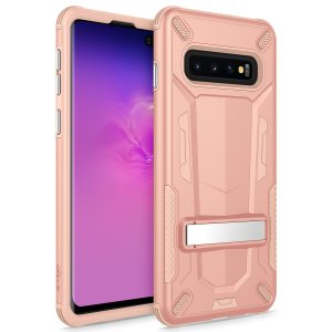 Protect your Samsung Galaxy S10 Plus from bumps and scrapes with this Zizo Transform case in Rose Gold and Peach. Comprised of an inner TPU case and an outer impact-resistant shell.