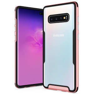 The Protective Fuse Series for the Samsung Galaxy S10 Plus. The rose gold finish gives you protection for your phone in style. This case is made for pure luxury and style.