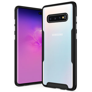 The Protective Fuse Series for the Samsung Galaxy S10 Plus. The black finish gives you protection for your phone in style. This case is made for pure luxury and style.