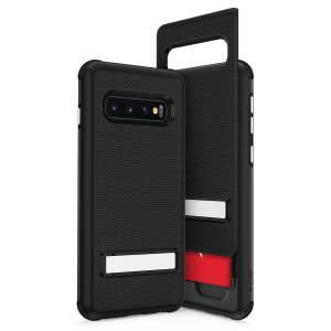 The Phase Series by Zizo offers an all-in-one hidden Wallet Back for the Samsung Galaxy S10 Plus. The black finish gives you protection for your phone in style a. This case is made for pure luxury and style.