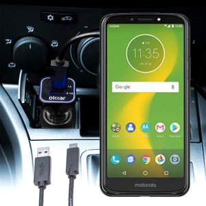 Keep your Motorola Moto E5 Supra fully charged on the road with this compatible Olixar high power dual USB 3.1A Car Charger with an included high quality  1m USB to USB-C charging cable.