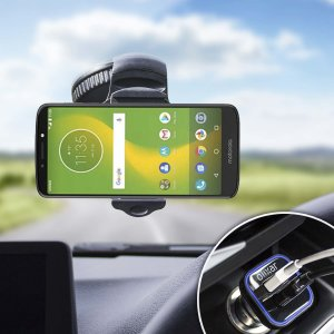 Essential items you need for your smartphone during a car journey all within the Olixar DriveTime In-Car Pack. Featuring a robust one-handed phone car mount and car charger with an additional USB port for your Motorola Moto E5 Supra.