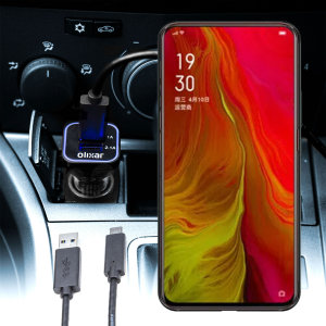 Keep your Oppo Reno Lite fully charged on the road with this compatible Olixar high power dual USB 3.1A Car Charger with an included high quality  1m USB to USB-C charging cable.