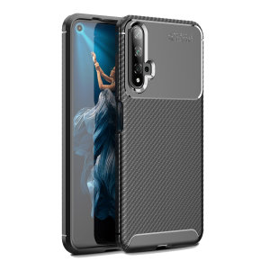Olixar Carbon Fibre case is a perfect choice for those who need both the looks and protection! A flexible TPU material is paired with an eye-catching carbon print to make sure your Huawei Honor 20 is well-protected and looks good in any setting.
