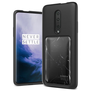Protect your with this precisely designed OnePlus 7 Pro case in Black Marble from VRS Design. Made with tough yet slim material, this hardshell construction with soft core features patented sliding technology to store two credit cards or ID.