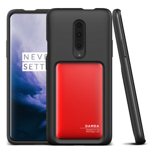Protect your with this precisely designed OnePlus 7 Pro case in Deep Red from VRS Design. Made with tough yet slim material, this hardshell construction with soft core features patented sliding technology to store two credit cards or ID.