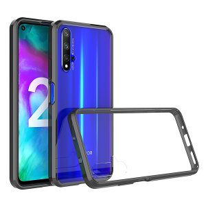 Custom moulded for the Huawei Honor 20. This black and clear Olixar ExoShield tough case provides a slim fitting stylish design and reinforced corner shock protection against damage, keeping your device looking great at all times.
