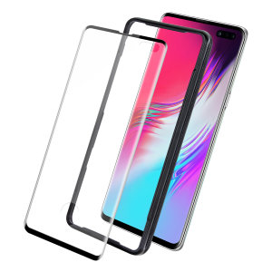 Keep your Samsung Galaxy S10 5G's screen in pristine condition with this Olixar GlassTex Tempered Glass screen protector. This design leaves space for a case and comes with an install tool for perfect alignment.