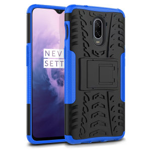 Protect your OnePlus 7 from bumps and scrapes with this blue ArmourDillo case from Olixar. Comprised of an inner TPU case and an outer impact-resistant exoskeleton, with a built-in viewing stand.