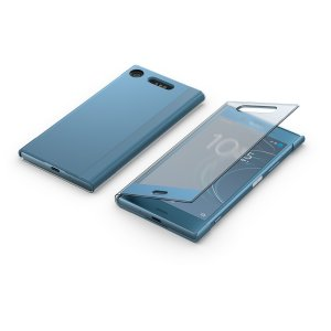 This official Style Cover Touch in blue from Sony houses your Xperia XZ1, providing protection and full functionality through the see-through touchscreen font cover, allowing you to view and action incoming messages and calls